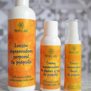 Pack cremas: Loción, Manos, Facial