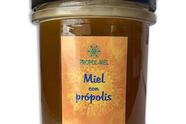 Lo mejor de la colmena en un frasco; miel con polen, jalea y própolis