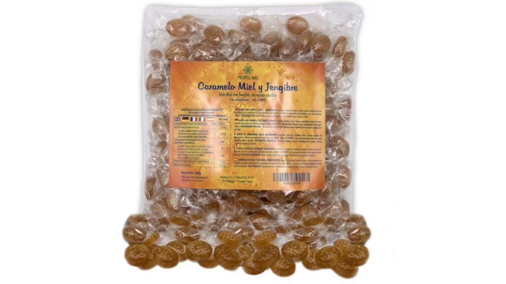 Caramelos de miel y jengibre sin azúcar